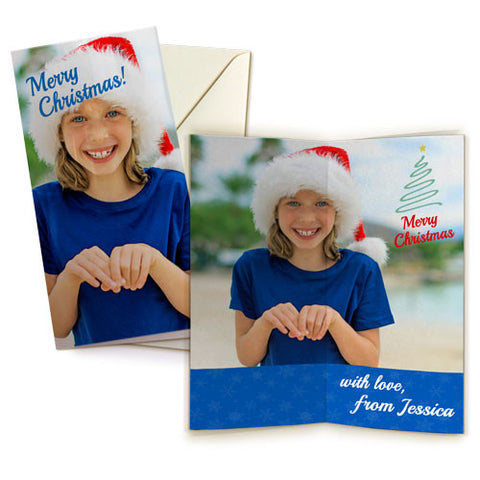 "4 x 8"" Double Sided Card (Single) Portrait"