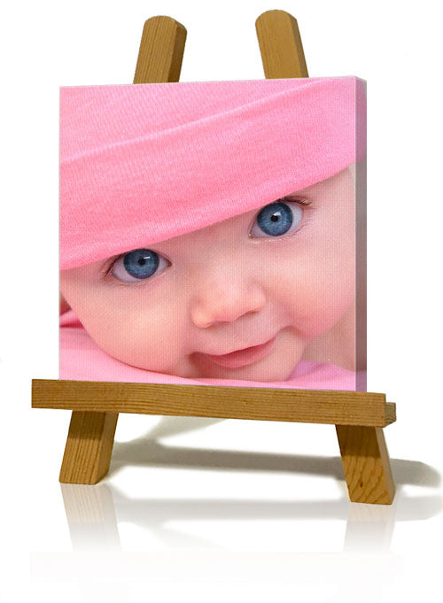 "6 x 6"" (15x15cm) Slim Canvas Print With Easel"