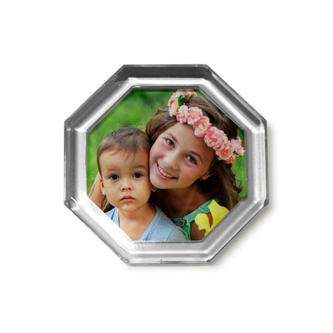 Octagonal Clear Frame Fridge Magnet