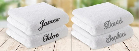 Plush Embroidered Towel