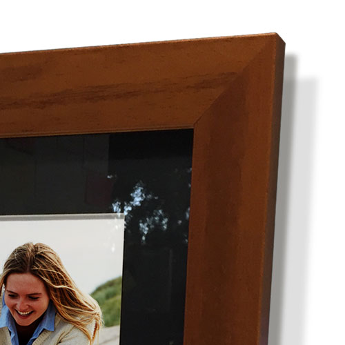 "16x28"" Brown Frame with Black Border (7x19"" Print)"