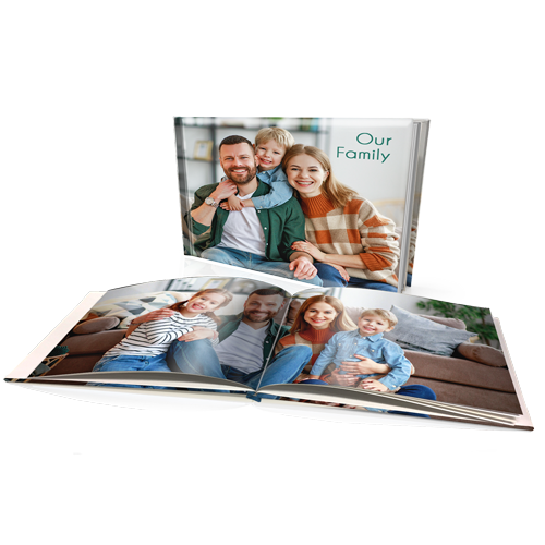 "8 x 11"" Premium Padded Personalised Hard Cover Book"