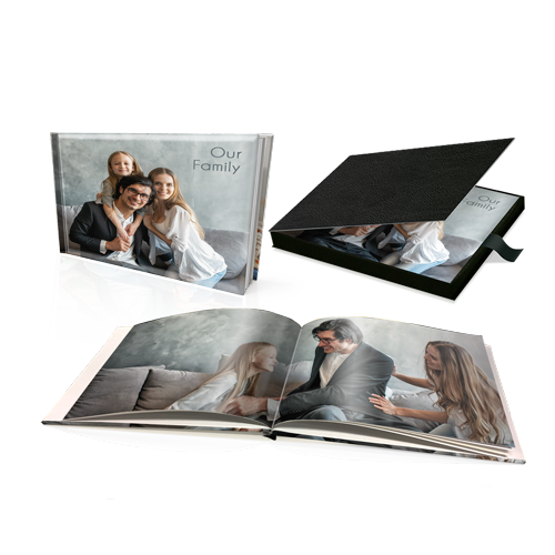 "8 x 11"" Premium Personalised Hard Cover Book in Presentation Box"