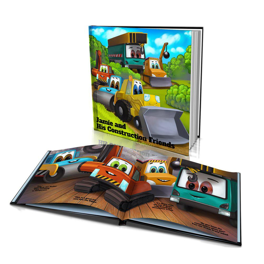Large Hard Cover Story Book - Construction Friends
