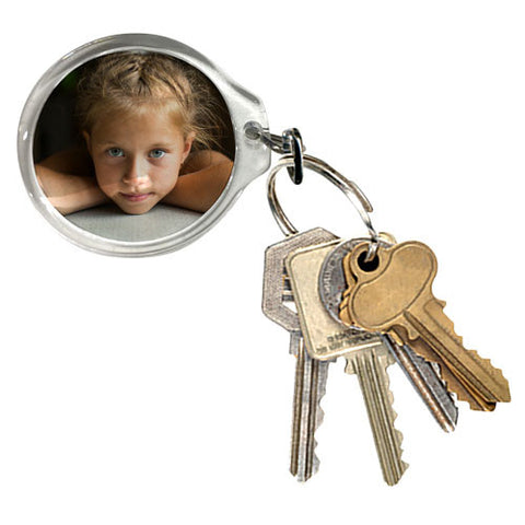 Small Round Photo Keyring