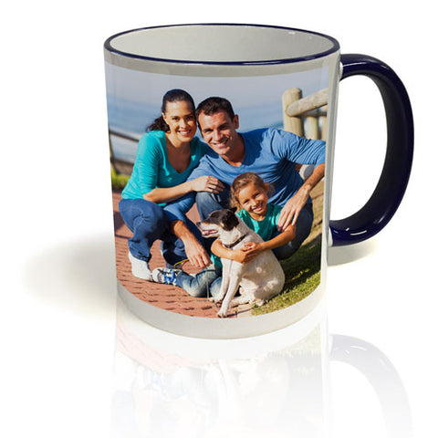 Colour Trim Mug - Blue and White