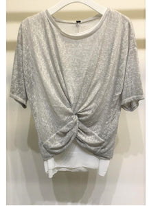 Grey 2-Piece Twisted Top