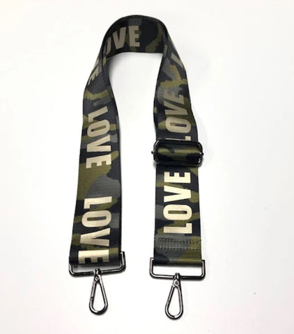 Green Camo Gold LOVE Strap
