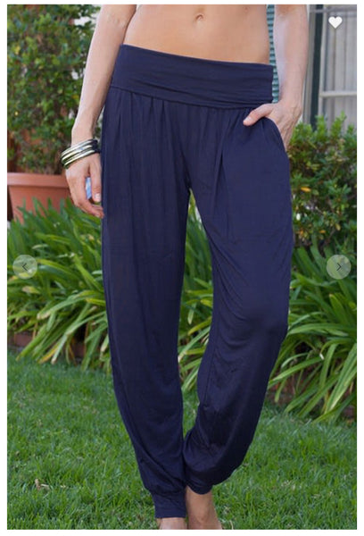 Navy Slouchy Lounge Pant