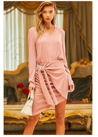 Blush Tie Dress