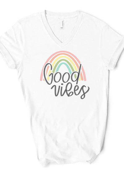 Rainbow Good Vibes Tee