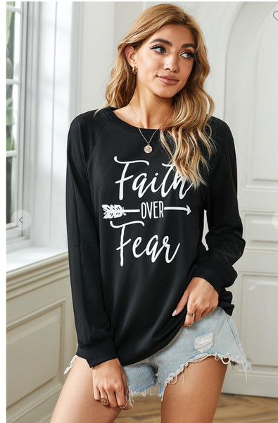 Faith Over Fear Long Sleeved Tee
