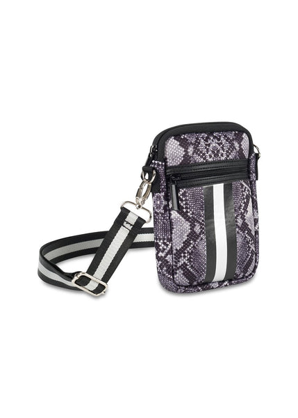 Grey Python Neoprene Phone Bag