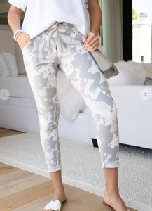 Light Grey Spotted Camo Joggers
