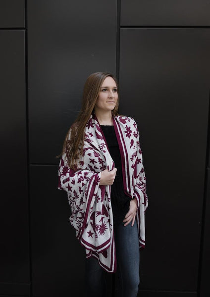 Texas A&M Maroon Otomi Inspired Scarf