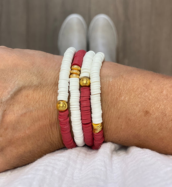 Pre-Order Maroon/White Wrap Bracelet - Support Aspire Accessories