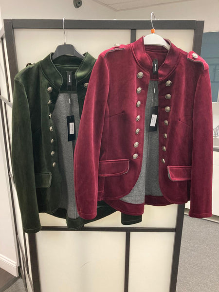 Black, Camel, Olive & Burgundy Velvet Sargent Pepper Short Jacket