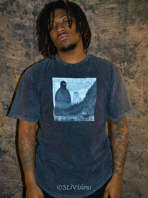 Acid Wash Long Tee McMonster X Mogul
