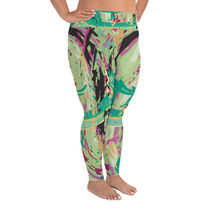 Paint Splatter Plus Size Leggings