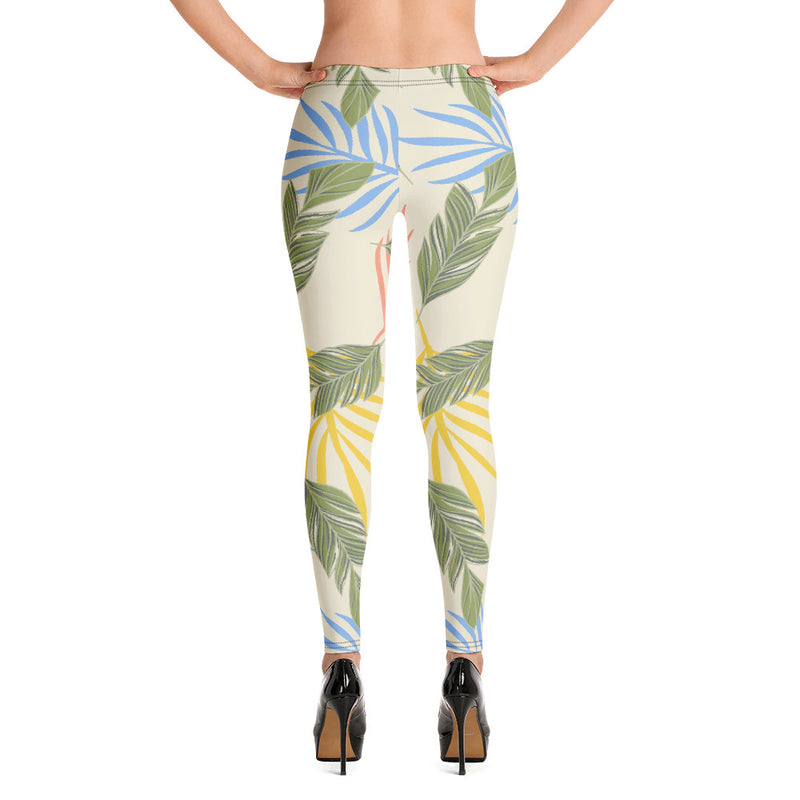 Tropical Beige Leggings