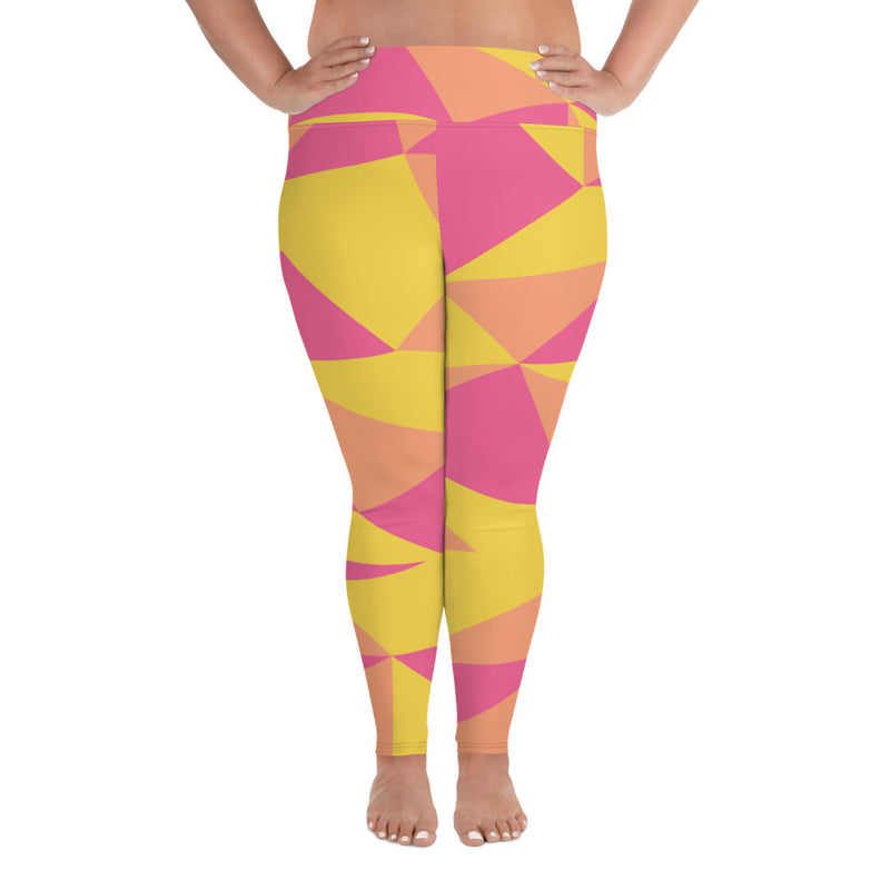 Geometric Plus Size Leggings
