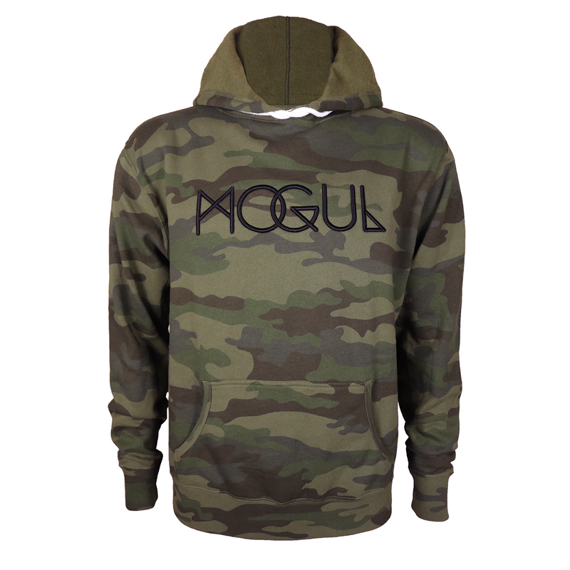 Slim Fit Camo Embroidered Hoodie