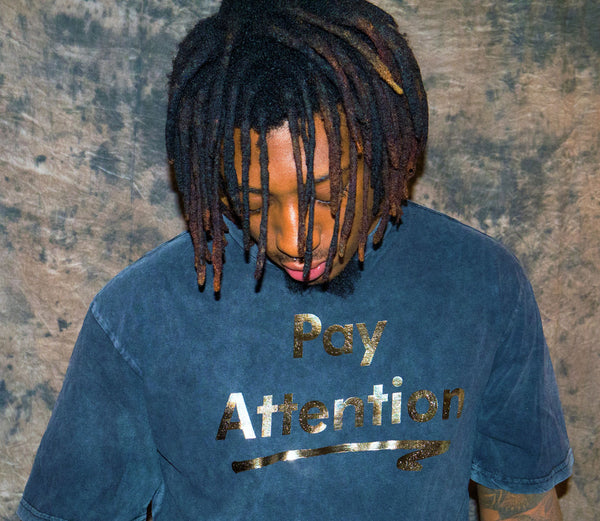 Pay Attention Acid Wash Drop Tail