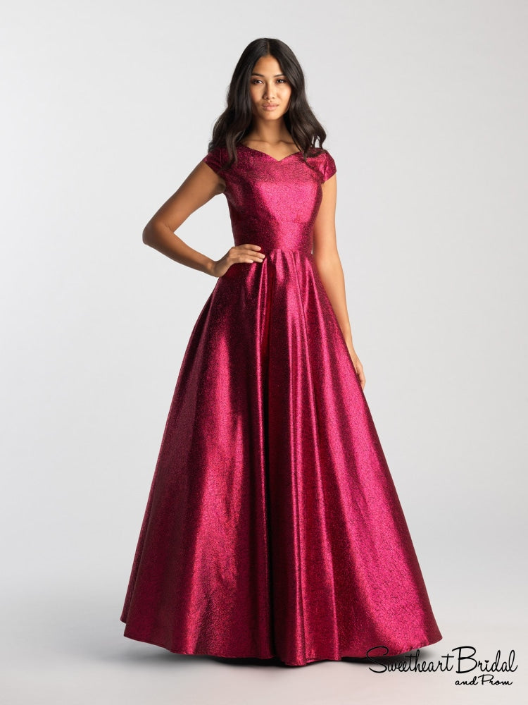 Jessa In Fuchsia Formal Wear