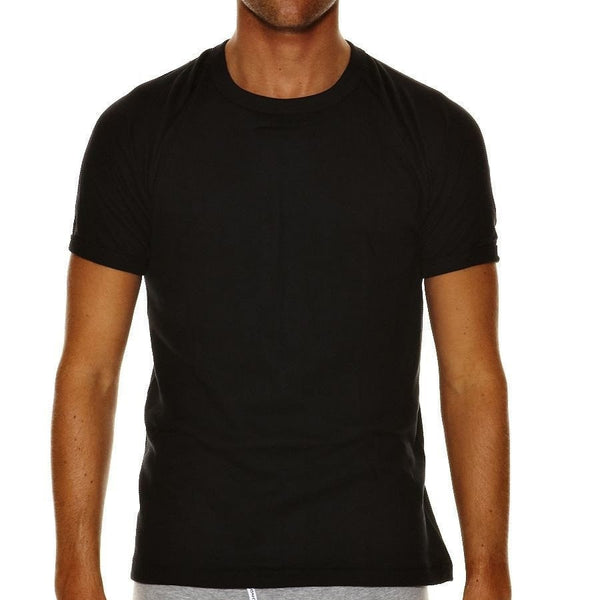 Bonds Raglan Crew Neck Tee 2 Pack Black