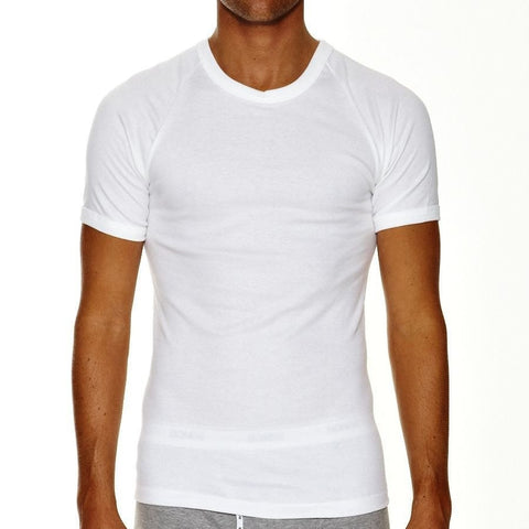 Bonds Raglan Crew Neck Tee 2 Pack White
