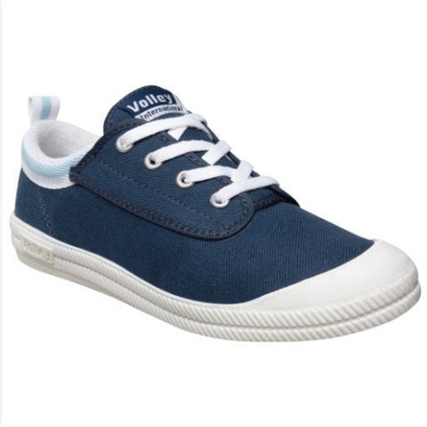 "Dunlop Volley ""Internationals"" Navy/Light Blue Childrens Shoes"