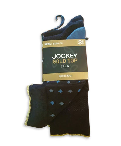 Jockey Gold Top Cotton Crew Socks - 3 Pack