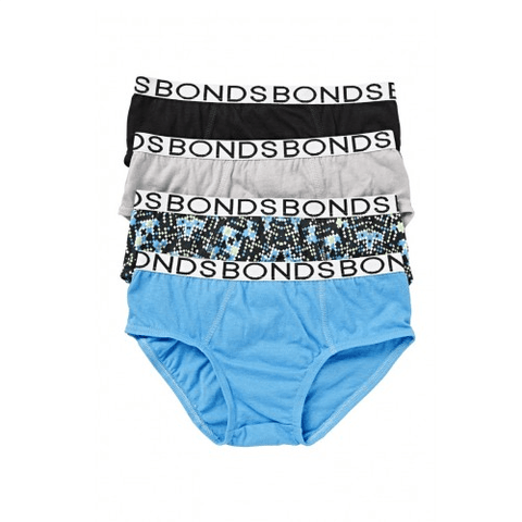 Bonds Boys Briefs 4 Pack 03Y