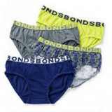 Bonds Boys Briefs 4 Pack PK9
