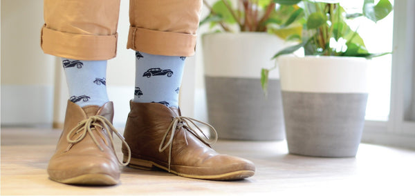 Pussyfoot Bamboozld Vintage Car Design Socks