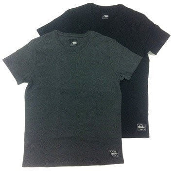 Mossimo 2pk Sleep Tee - Bruce (Charcoal Marle / Black)