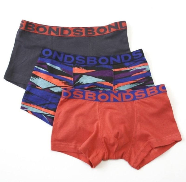 Bonds Boys Fit Trunk 3 Pack