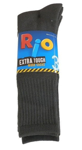 Rio Extra Tough Work Socks - 3 Pack (Charcoal)