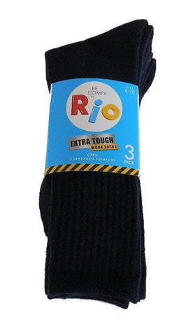 Rio Extra Tough Work Socks - 3 Pack (Navy)
