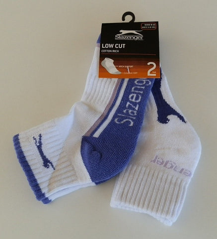 Slazenger Low Cut Socks 2 Pack