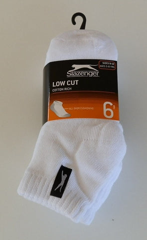 Slazenger Kids Low Cut Socks 6 Pack
