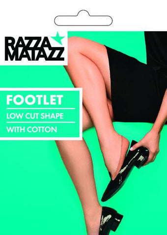Razza Matazz - Low Cut Footlet Black & Beige - Size 3+ & 8+