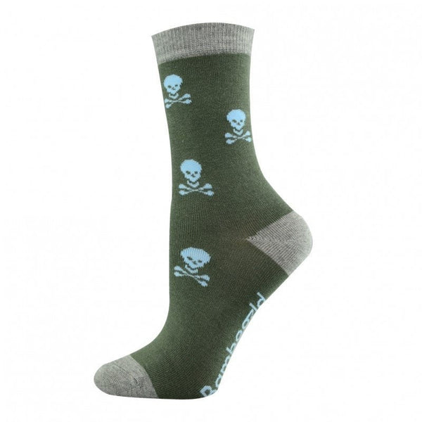 Pussyfoot Bamboozld Skull and Bones Design Socks