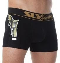 Sly Underwear Trunks THUG LIFE BLACK