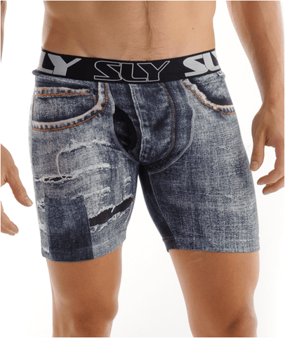 Sly Underwear Trunks TORN DENIM
