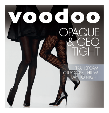 Voodoo Black Oaque and Geo Tights - 2 Pack