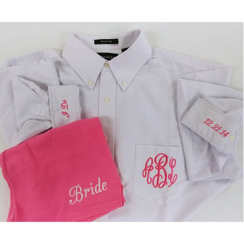 Bridal Button Down Oxford Shirts Party Package