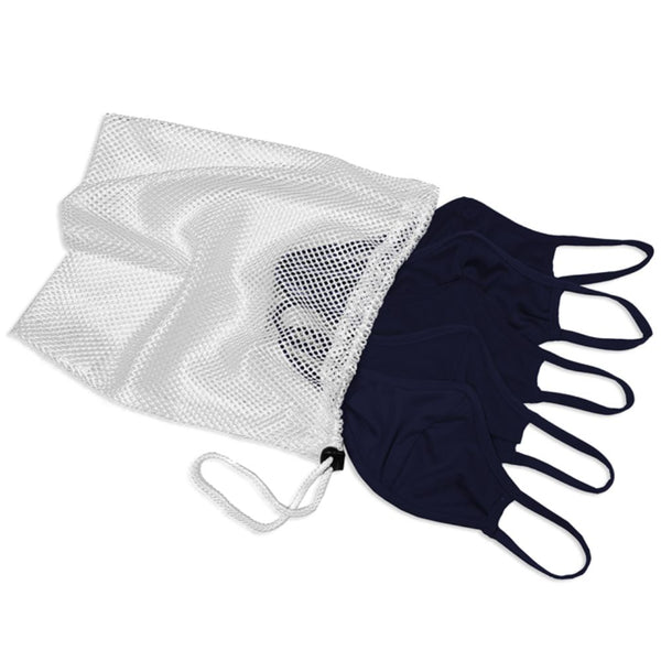 Five Face Mask Pack with Laundry Bag