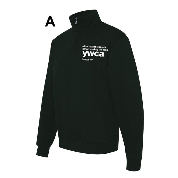 YWCA ¼ Zip Cadet Collar Sweatshirt