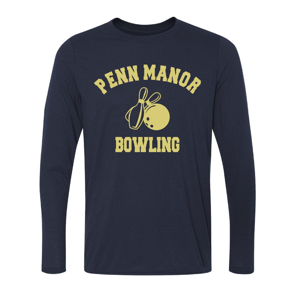 PM Bowling Adult Performance Long Sleeve Shirt